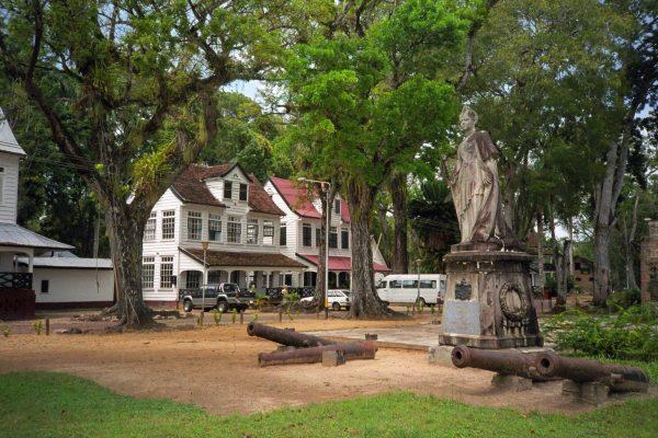 Suriname - Paramaribo - Queen Wilhelmina near Fort Zeelandia